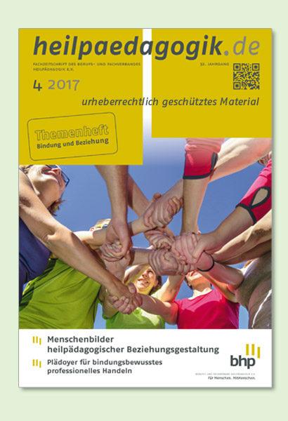 Cover der heilpädagogik.de 4/2017