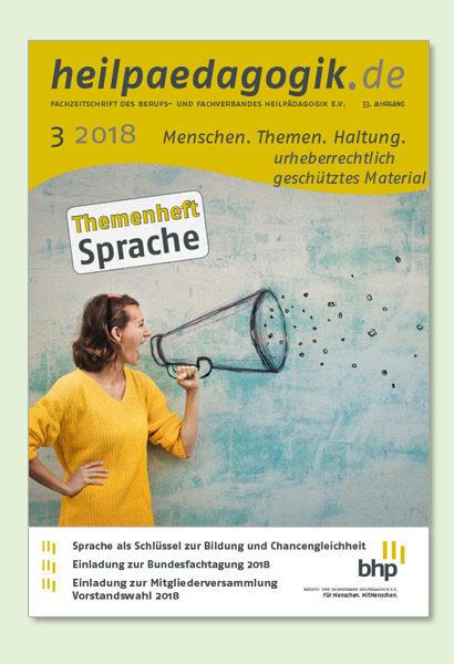 Titelbilder der heilpaedagogik.de 03/2018