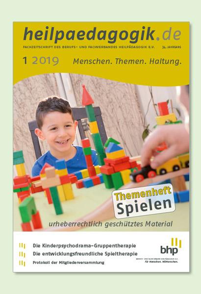 Titelbilder der heilpaedagogik.de 01/2019