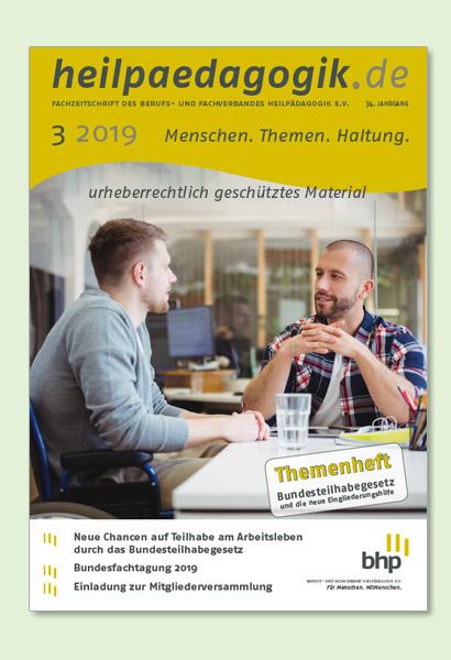 Titelbilder der heilpaedagogik.de 03/2019